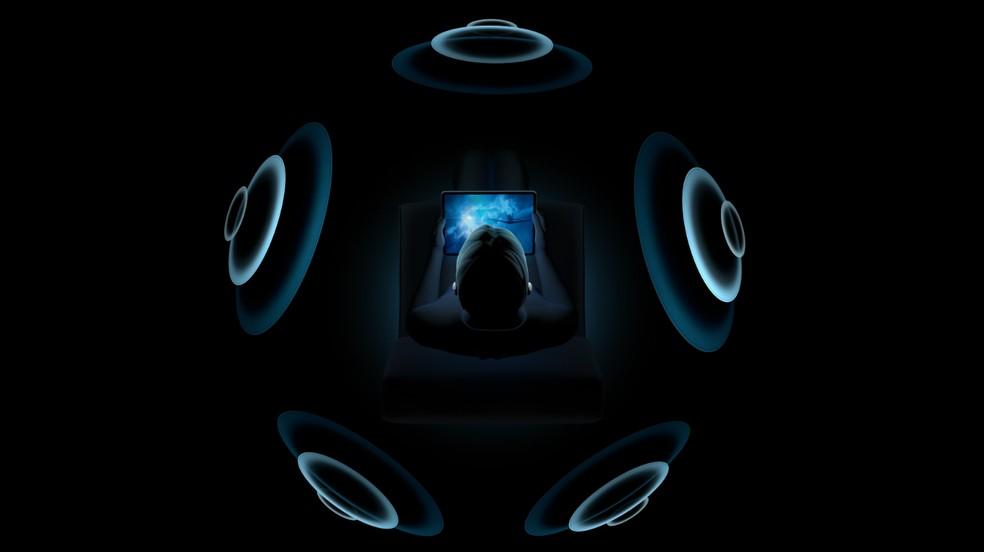 AirPods Pro terá áudio melhorado por meio de software — Foto: Reprodução/Apple