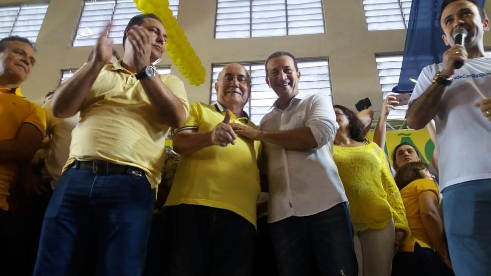 Márcio Miranda junto com Flexa Robeiro (Foto: Jalília Messias/Tv LIberal)