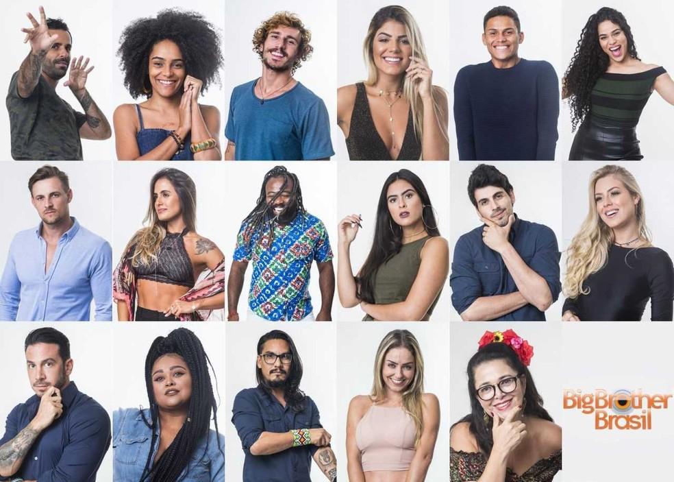 Os participantes do BBB19 — Foto: Victor Pollak/ TV Globo