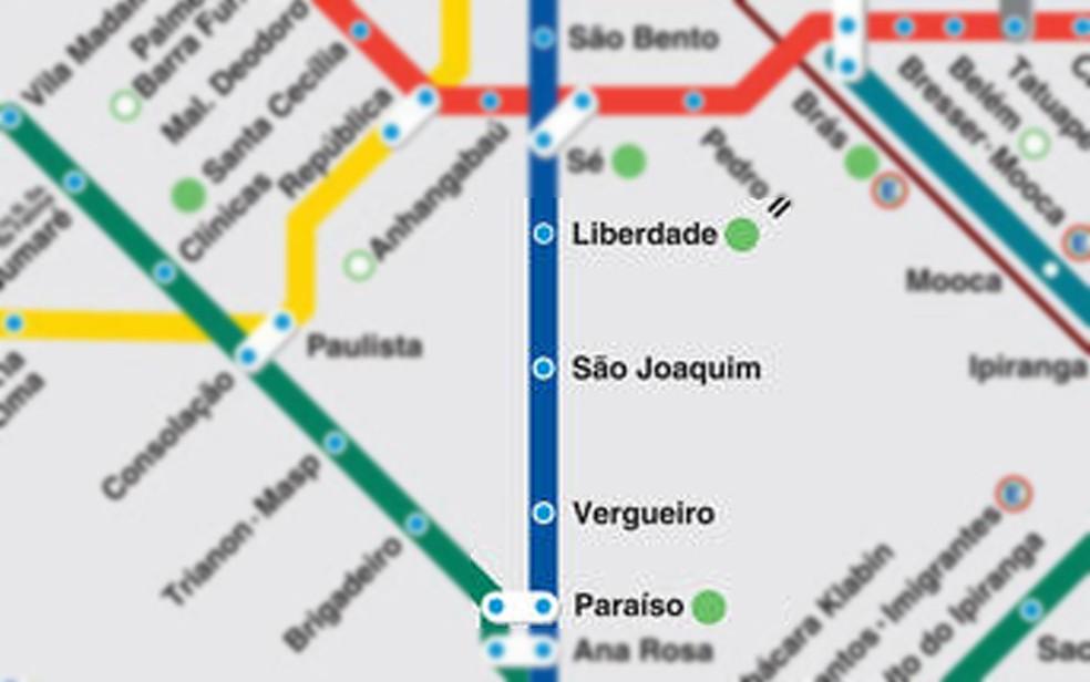 ... Destaque para as estações do Metrô afetadas por queda de publicidade  nos trilhos — Foto  7586d9c949