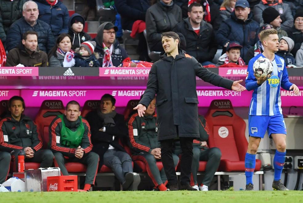 Niko Kovac, técnico do Bayern de Munique — Foto: REUTERS/Andreas Gebert