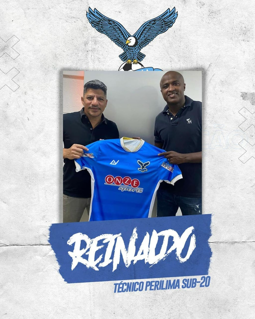 Perilima anuncia o ex-jogador Reinaldo como o novo treinador do time sub-20 — Foto: Divulgação / Perilima