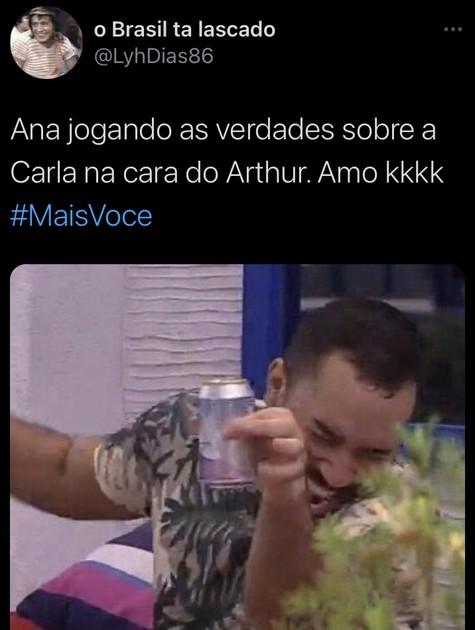 """Meme com entrevista de Arthur no """"Mais você"""" (Foto: Reprodução)"""