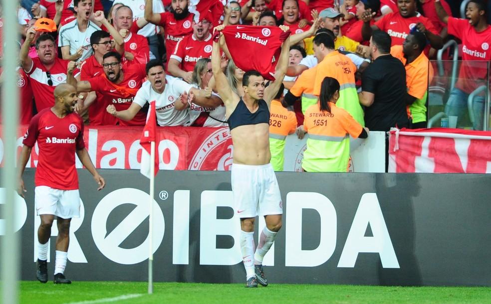 Leandro Damião marcou seu segundo gol em 2018   (Foto: Ricardo Duarte/Divulgação Inter)