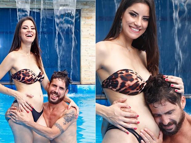 Thayra Machado e Hudson (Foto: Marcelo Navarro/ Ed. Globo)