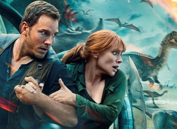 Chris Pratt e Bryce Dallas Howard em Jurassic Park: Reino Ameaçado (Foto: Divulgação/Universal)