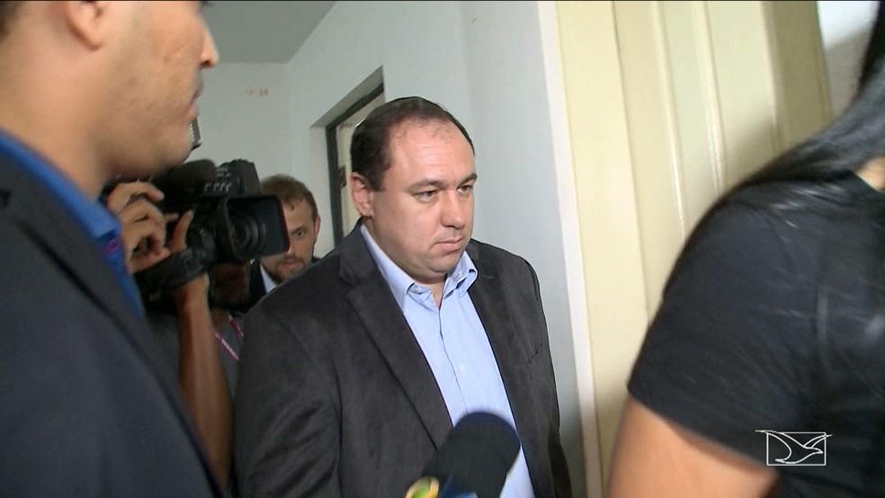 Ex-superintendente de investigações criminais no Maranhão, Tiago Bardal.  — Foto: Reprodução/TV Mirante