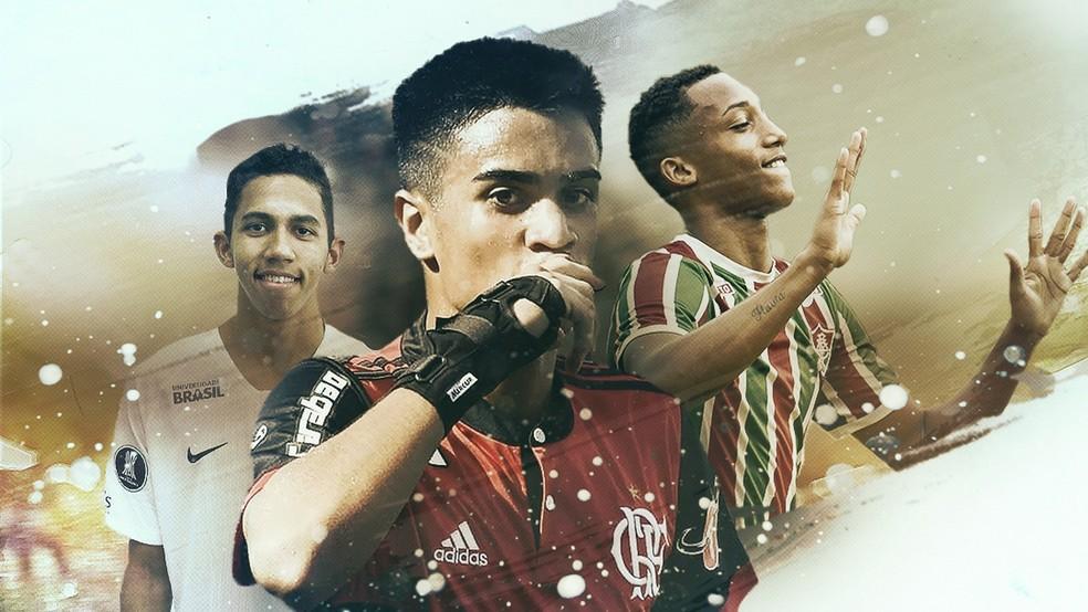 Fessin, Reinier, João Pedro, Copinha, Copa São Paulo de Futebol Jr. — Foto: GloboEsporte