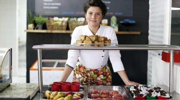 Lara Folster, da Lanche&Co, empreendeu após não achar opções de alimentação saudável para o filho (Foto: Agência O Globo)