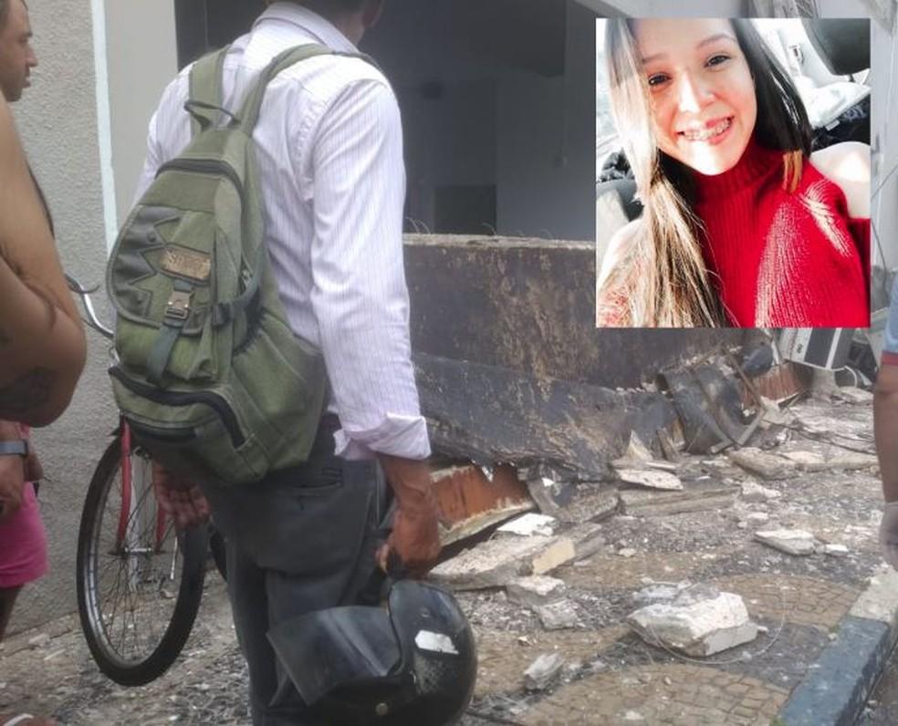 Késia Cândido morreu após ser atingida por marquise de shopping  — Foto: Arquivo Pessoal