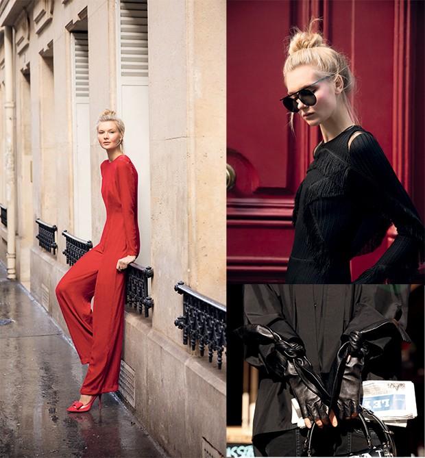 A moda de Juliana pelas ruas de Paris em ensaio  de Marie Claire (Foto: Leo Faria)