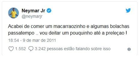 Neymar resume em um tuíte o signo de touro (Foto: Reprodução / Twitter)