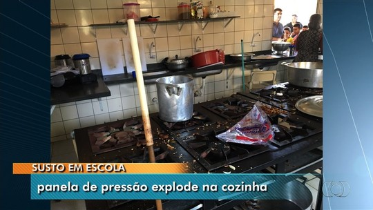 Panela de pressão explode dentro de escola municipal e fere 4 merendeiras, em Aparecida de Goiânia