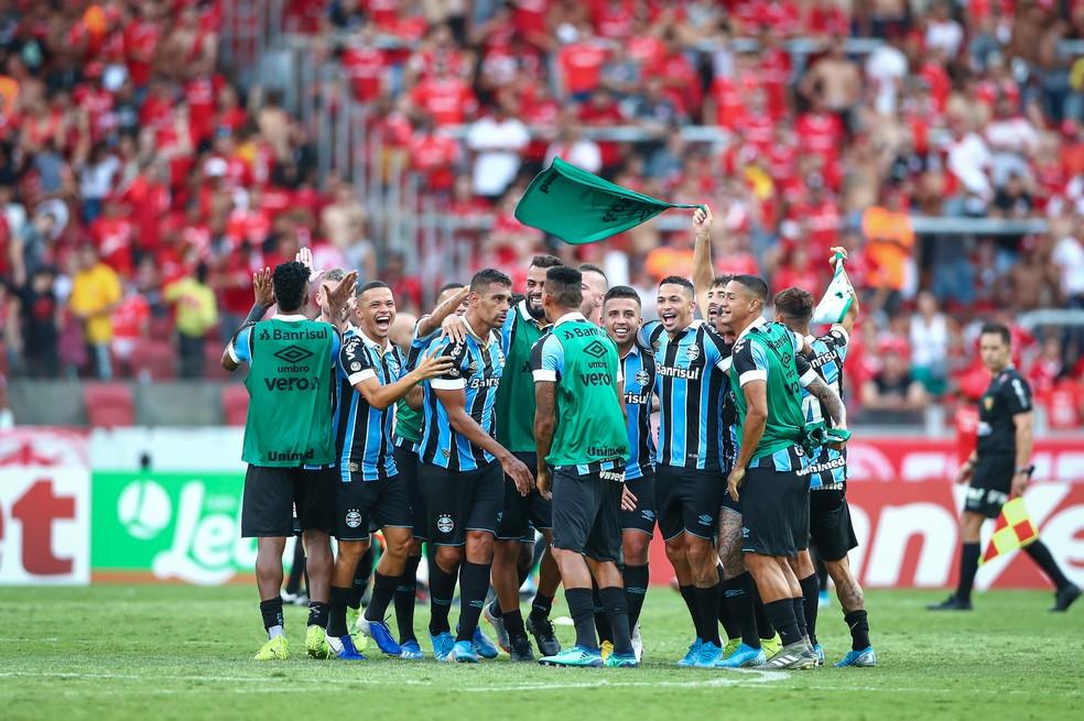 Grêmio vence o Gre-Nal com gol de Diego Souza — Foto: Lucas Uebel/Grêmio