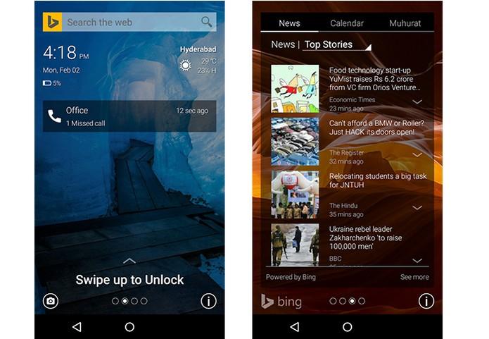 Microsoft lança Picturesque Lock, app que muda tela de bloqueio do Android (Foto: Divulgação/Microsoft)