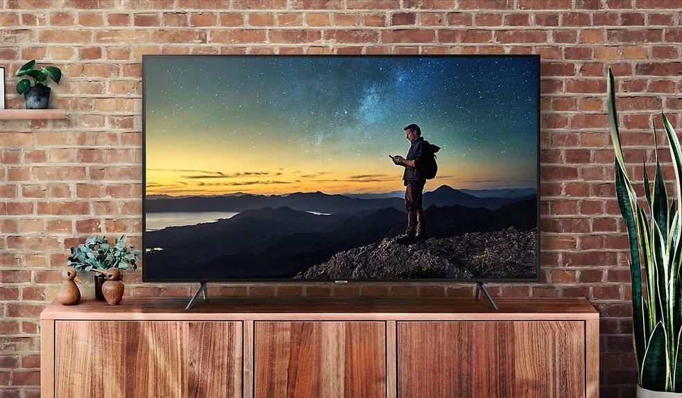 Samsung NU7100 está entre as TVs 4K mais baratas da Samsung — Foto: Divulgação/Samsung