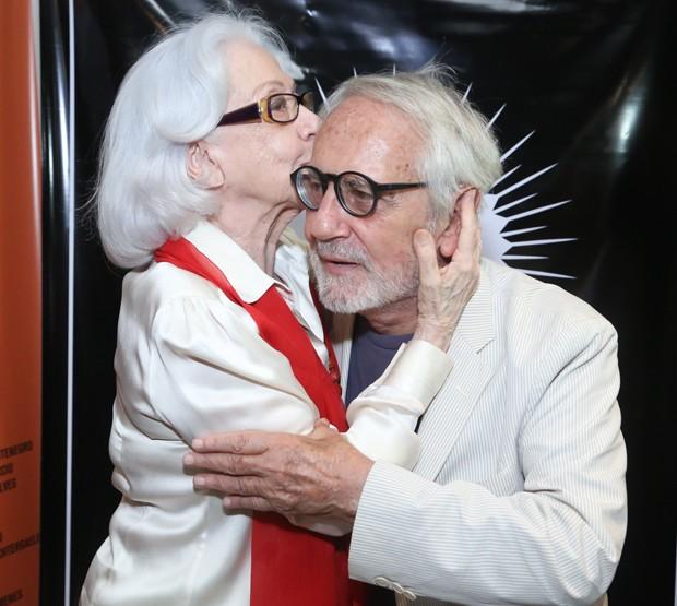 Fernanda Montenegro e Paulo José (Foto: Roberto Filho/Brazil News)