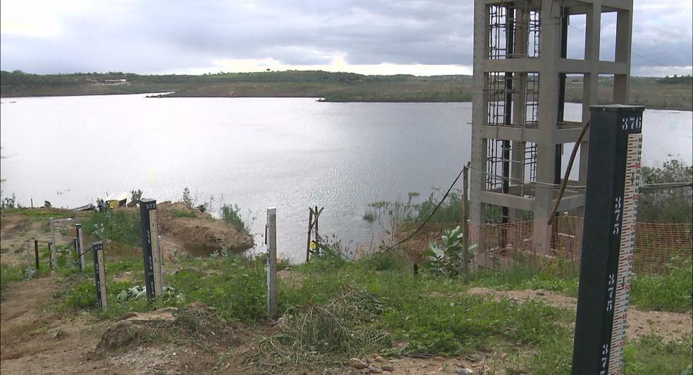 Reservatório Epitácio Pessoa, Açude de Boqueirão, Paraíba (Foto: Reprodução/TV Paraíba)