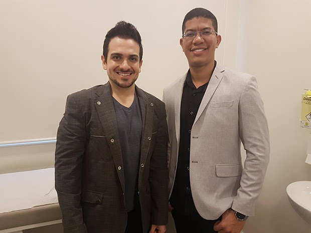 O dentista Diogo Branco e o médico Antonio Kleber (Foto: Marcela Arribet)