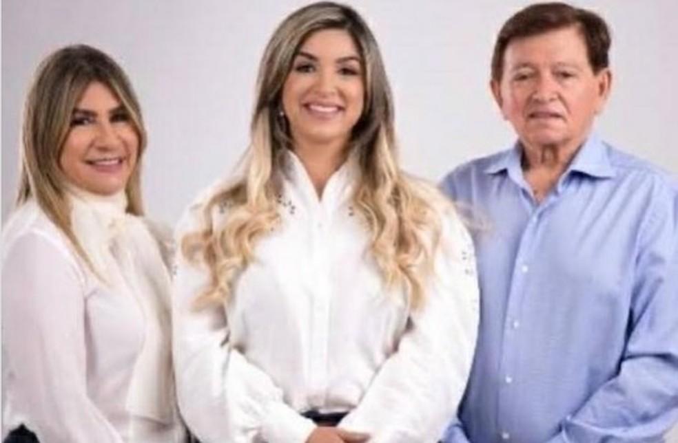 Deputados Edna e João Henrique e filha Micheila testam positivo para Covid-19, na PB — Foto: Divulgação/Micheila Henrique