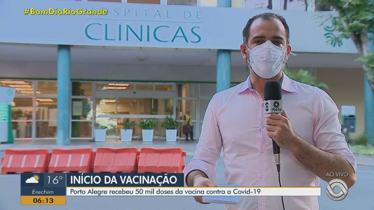 Porto Alegre recebe 50 mil doses da vacina contra a Covid-19