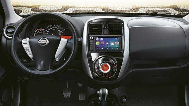 Nissan March 2019 Central Multimídia (Foto: divulgação)