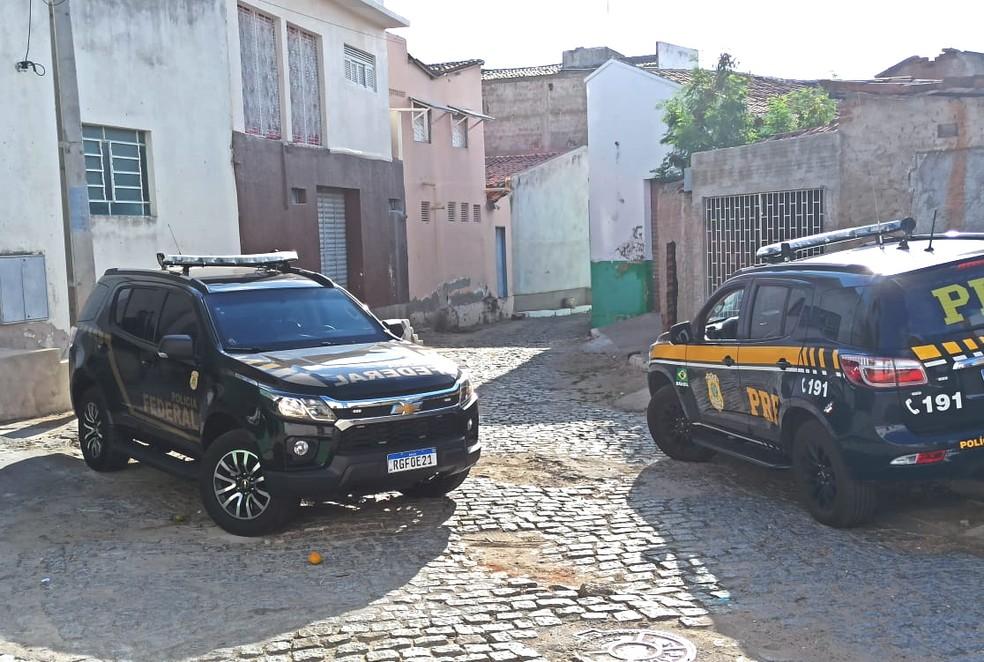 Força-tarefa de combate ao crime organizado prende seis pessoas no Seridó — Foto: Polícia Federal/Divulgação