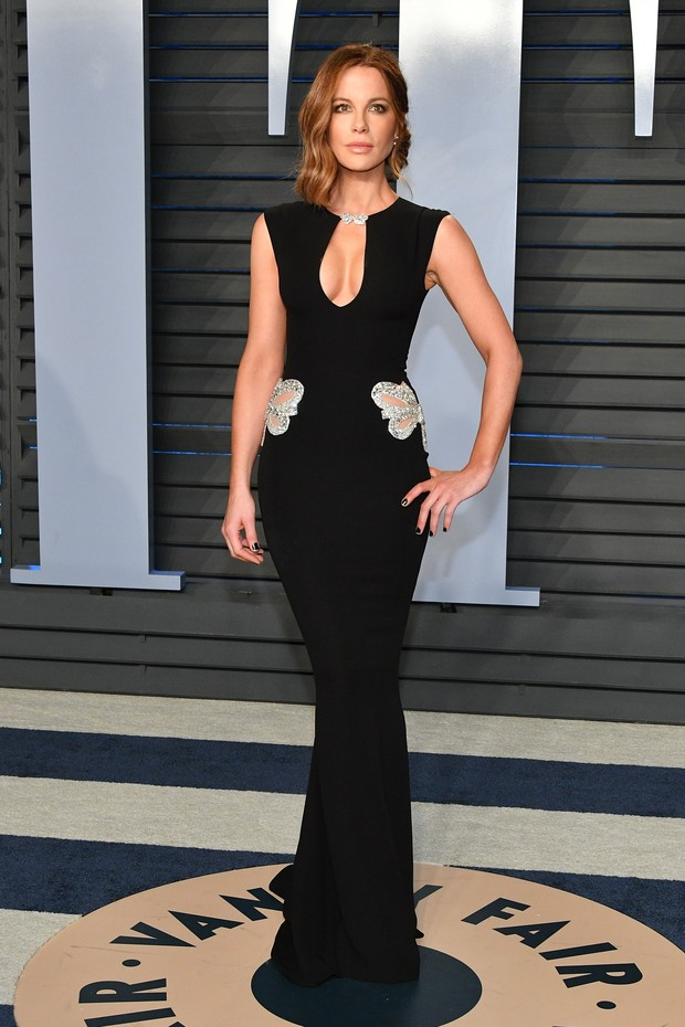 BEVERLY HILLS, CA - MARCH 04:  Kate Beckinsale attends the 2018 Vanity Fair Oscar Party hosted by Radhika Jones at Wallis Annenberg Center for the Performing Arts on March 4, 2018 in Beverly Hills, California.  (Photo by Dia Dipasupil/Getty Images) (Foto: Getty Images)