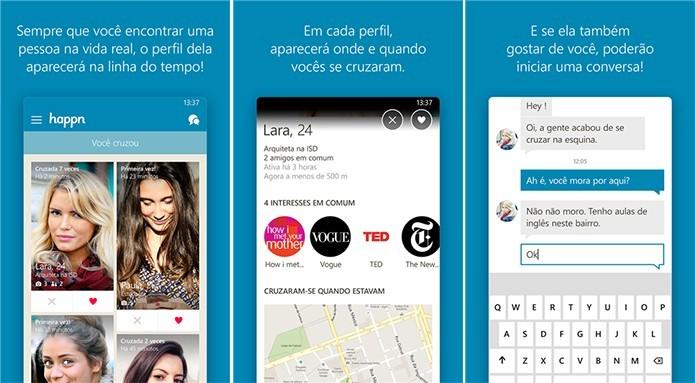 Happn é um aplicativo para celulares que mostra pessoas com as quais você cruzou na rua (Foto: Reprodução/Elson de Souza)