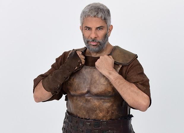 O ex-gladiador Shabaka é vivido por Luka Ribeiro (Foto: Munir Chatack, Edu Moraes e Blad Meneghel/ Record TV)