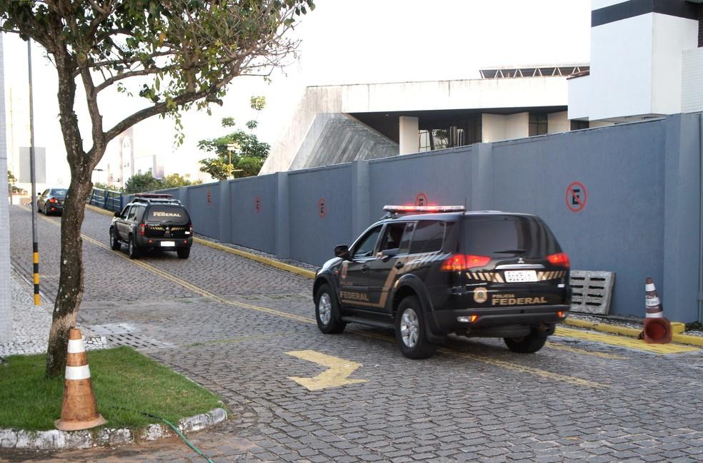 PF cumpre mandados de prisão e de busca e apreensão contra grupo suspeito de assaltos a bancos, em Natal, Parnamirim e Cuiabá (MT) — Foto: PF/Divulgação