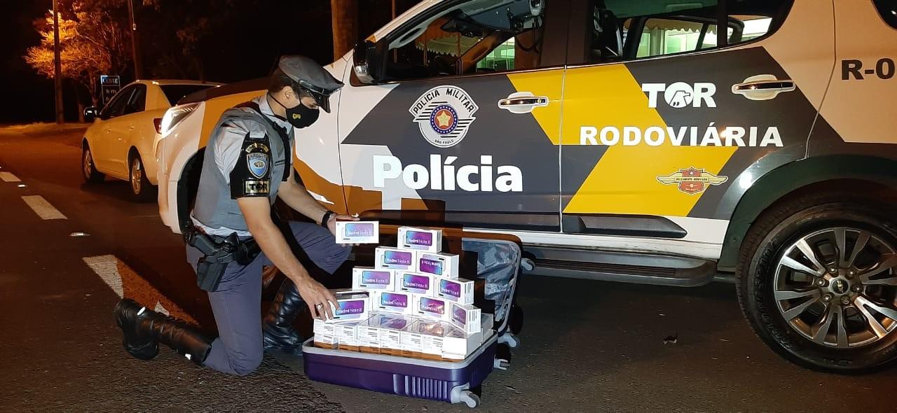 Celulares sem documentação fiscal são apreendidos durante fiscalização da Polícia Rodoviária na SP-270
