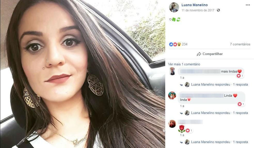 Luana Manelino foi arremessada para fora do carro em acidente na estrada da Represa do 29 em São Carlos — Foto: Reprodução Facebook