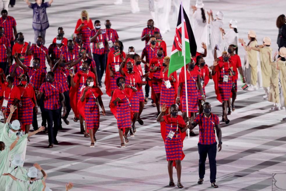 Delegação do Quênia — Foto: @olympics