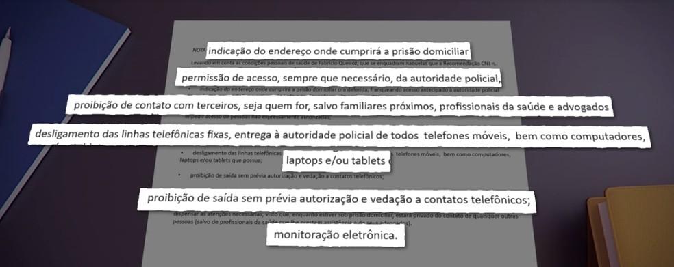 Prisão domiciliar de Fabrício Queiroz deve seguir regras definidas pelo STJ — Foto: Reprodução/ TV Globo
