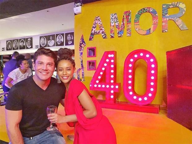 Taís Araujo com Alberto Cordeiro (Foto: Reprodução/Instagram)