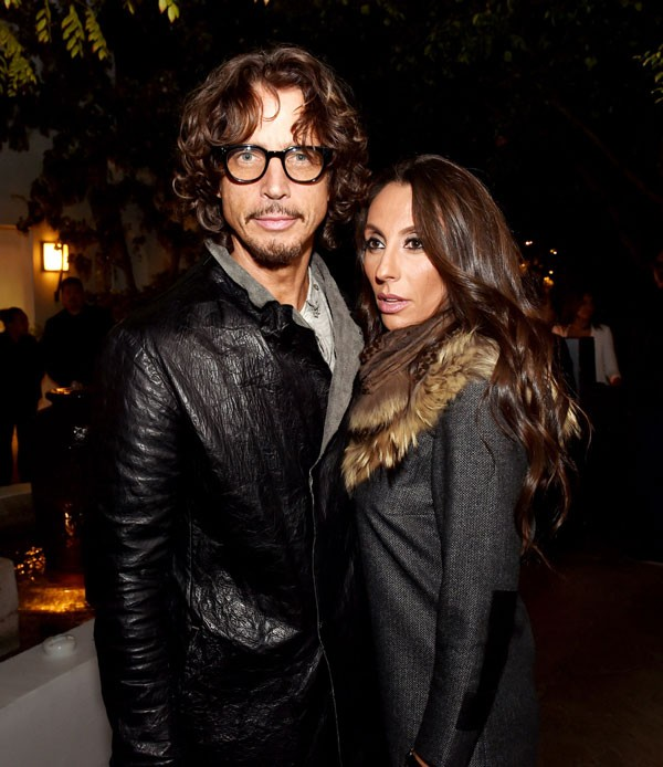 Chris Cornell e sua esposa, Vicky Karayiannis (Foto: Getty Images)
