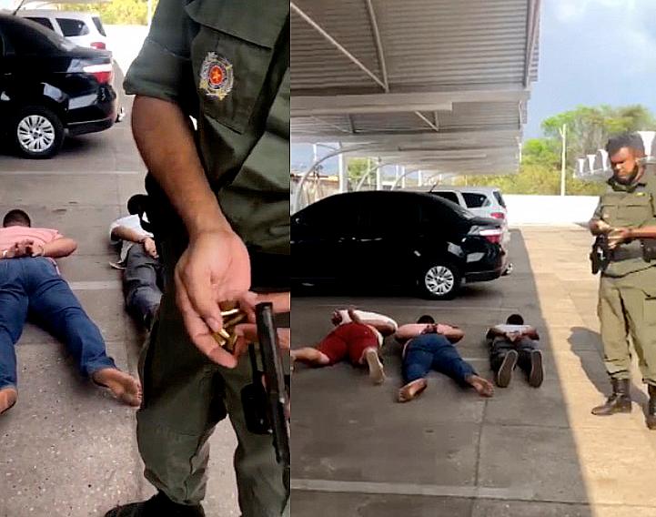 Três suspeitos de tentativa de assalto são presos em estacionamento de supermercado em Teresina