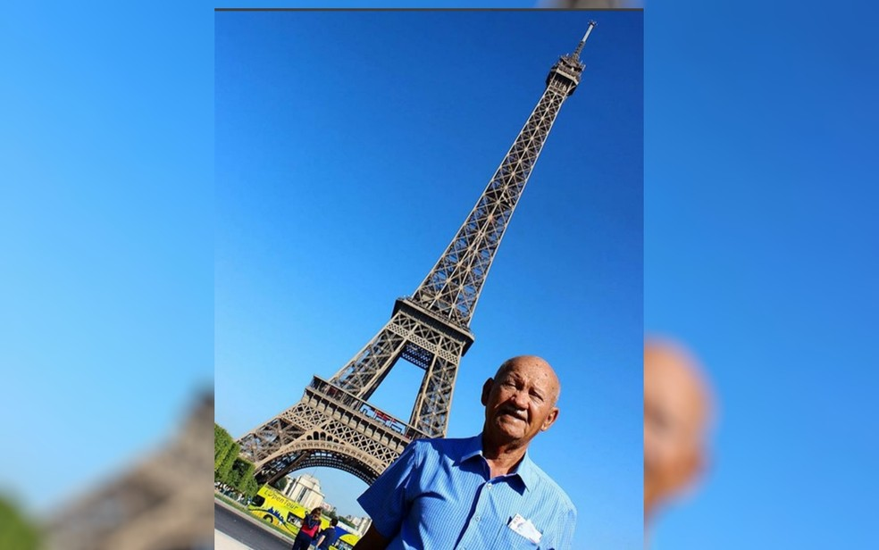 Adontino Soares da Silva em Paris, na França (Foto: Instagram/Reprodução)