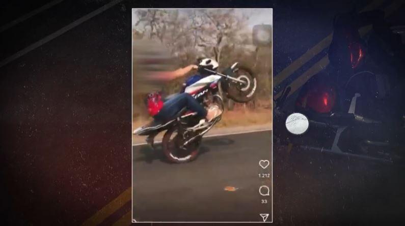 Menores de idade infringem leis pilotando motos e causam acidentes; vídeos vão parar nas redes sociais