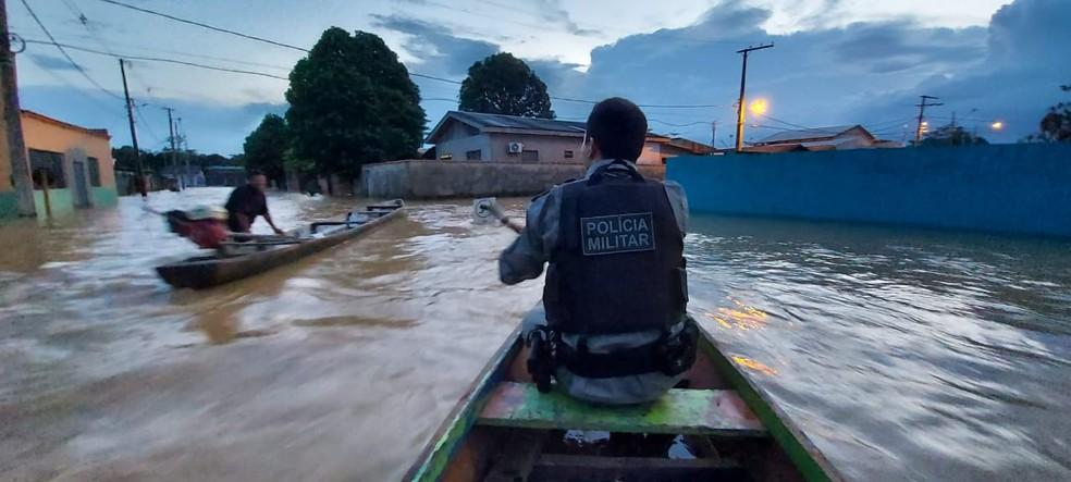 PM diz que tem feito patrulhamento, mas situação é difícil de controlar  — Foto: Polícia Militar do Acre