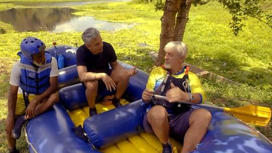 Confira imagens exclusivas do passeio de rafting de Otaviano Costa