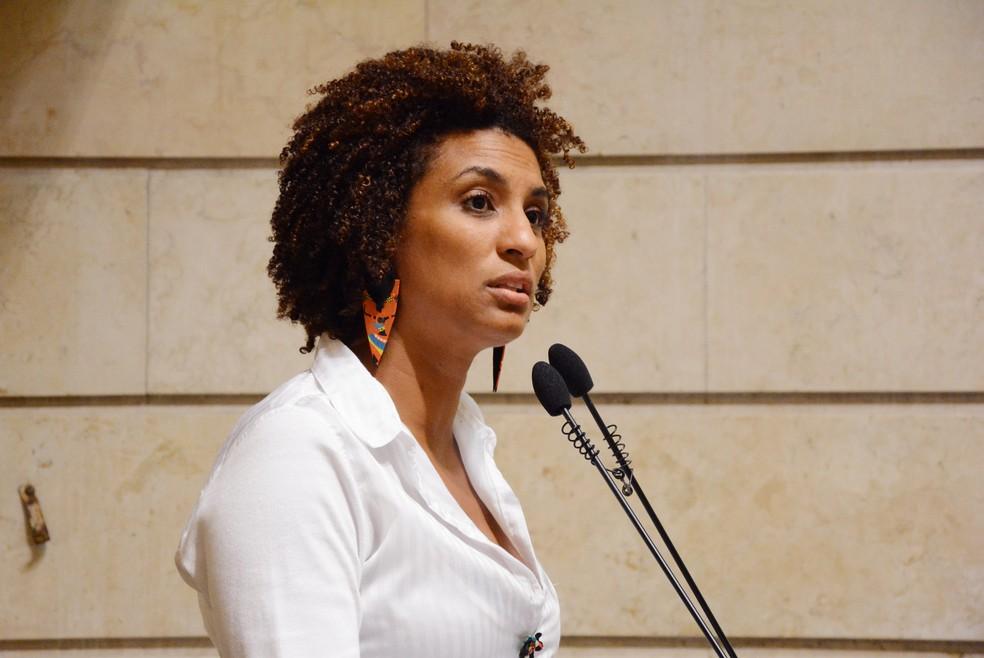 Marielle Franco na Câmara dos Vereadores do Rio (Foto: Renan Olaz/Câmara do Rio)