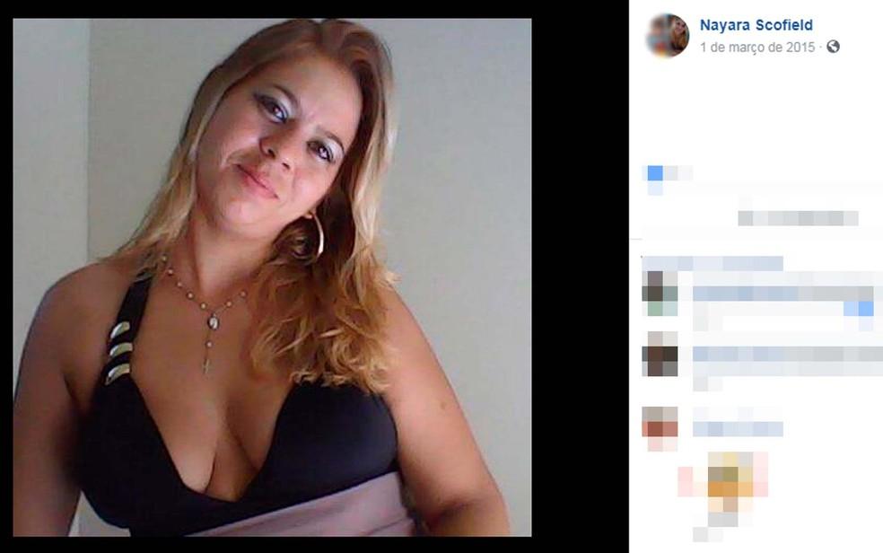 Nayara Scolfield foi morta a tiros dentro da casa onde morava, em Cavelas, no sul da Bahia — Foto: Reprodução/TV Bahia
