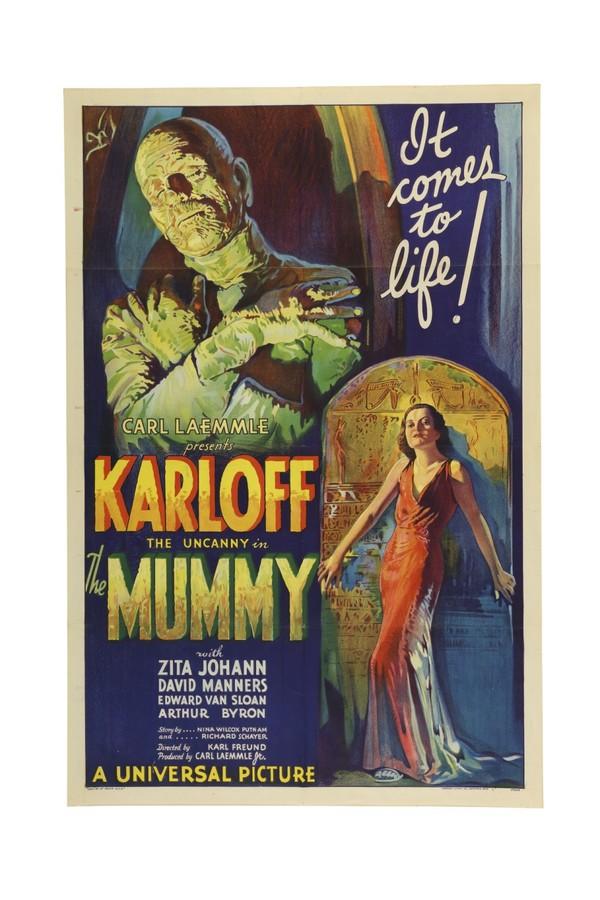 Pôster do filme A Múmia, de 1932 (Foto: Divulgação/ Sothesby)