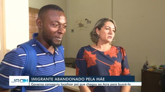 Após reencontro, criança abandonada pela mãe no AC vai voltar com o pai para a Guiana Francesa
