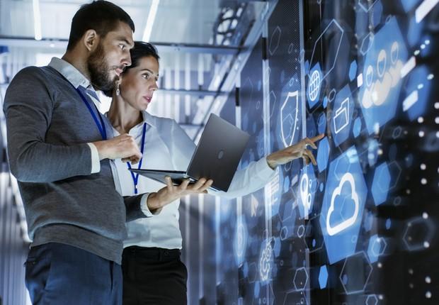 Transformação digital, tecnologia, inovação, realidade aumentada, realidade estendida, inteligência artificial, futuro, blockchain (Foto: Getty Images)