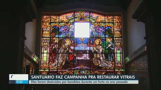 Santuário de São João da Boa Vista busca recursos para restaurar vitrais quebrados em furto