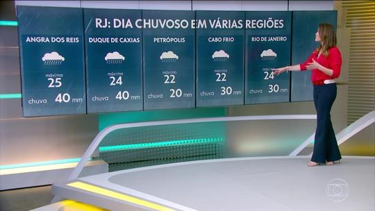 Grande parte do estado do RJ ainda pode ter chuva hoje