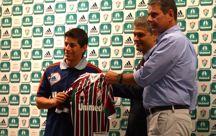 Conca coletiva Fluminense (Foto: Globoesporte.com)